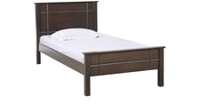 Zina Single Bed in Walnut Finish