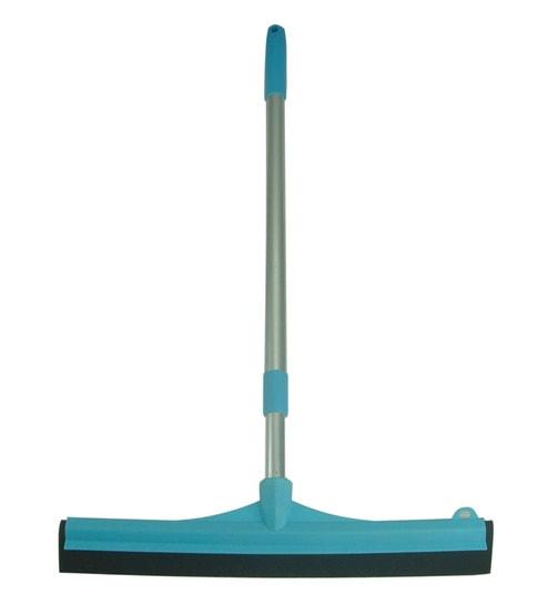 zibo blue plastic and sponge telescopic handle floor squeegee