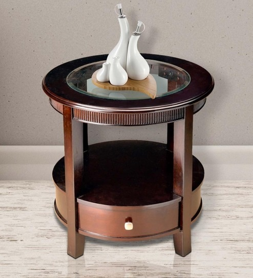 Zina End Table in Brown Finish by HomeTown