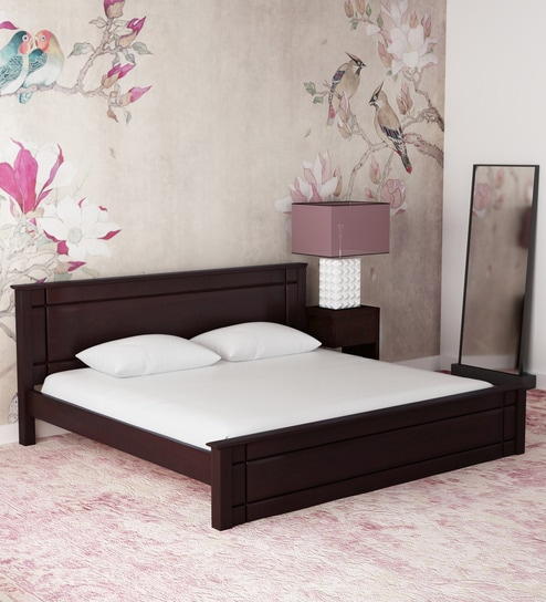 Buy Zina Grand King Size Bed In Cappucinno Finish By Hometown Online