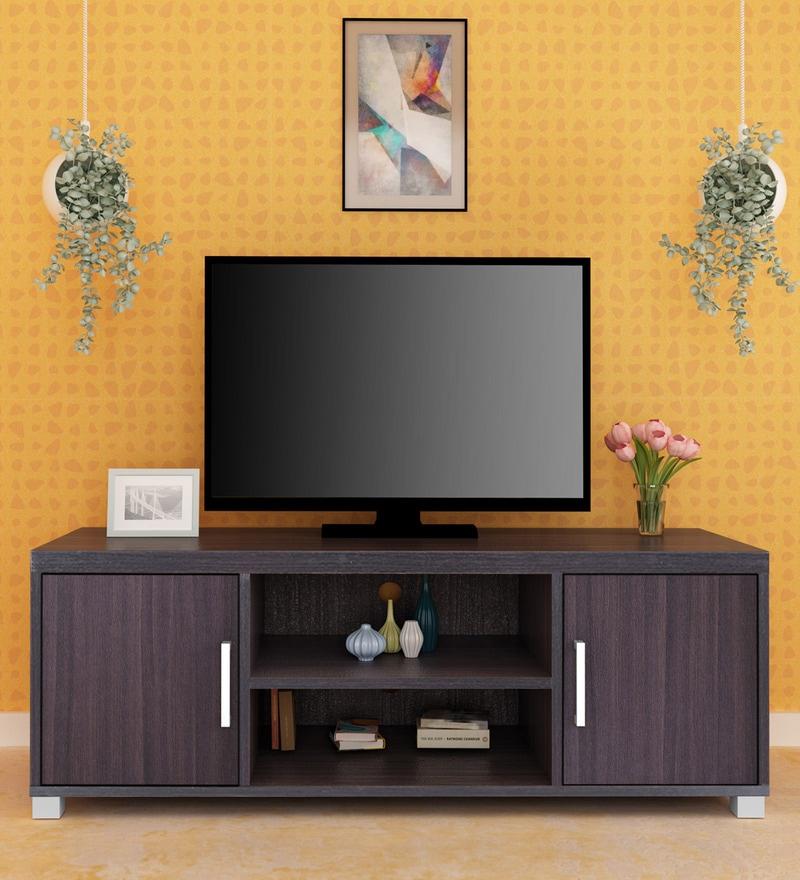 47acc1f38 Buy Zinc TV Unit in Black Finish by Royal OaK Online - Modern TV ...