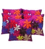 Purple Polyester 16 x 16 Inch Cushion Covers - Set of 5 by Zikrak Exim
