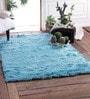 Zila Home Aqua Polyester Shaggy Area Rug