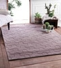 Brown Wool Knitted Area Rug by Zila Home