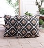 Zila Home Multicolour Cotton 16 x 16 Inch All Over Ikat Cushion Cover