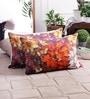Zila Home Multicolour Cotton 16 x 16 Inch Flower Cushion Cover