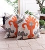 Multicolour Cotton 16 x 16 Inch Ikat Cushion Cover by Zila Home