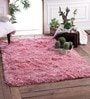 Pink Polyester Shaggy Area Rug by Zila Home