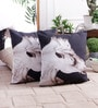 White & Black Cotton 16 x 16 Inch Horse Cushion Cover by Zila Home