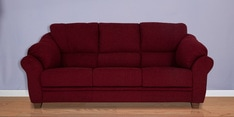 Zurich Delight Three Seater Sofa in Dark Maroon Colour