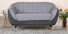Zurich Two Seater Sofa in Grey Colour