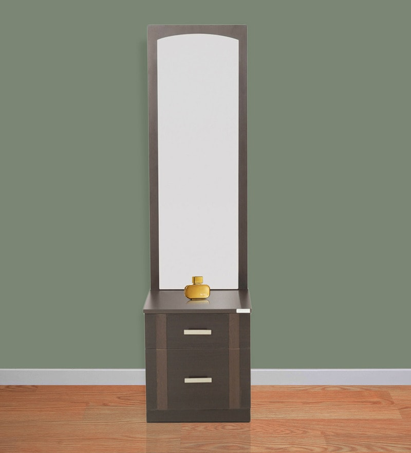 Buy Zurina Dressing Table With Stool In Wenge Colour By